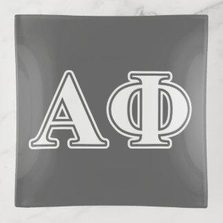 Letras blancas y de plata de la phi alfa
