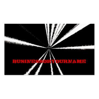 Letras blancos y negros dramáticas del rojo de la  tarjetas de visita