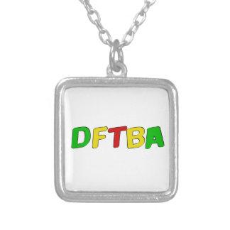 Letras de DFTBA Rasta Colgante Cuadrado