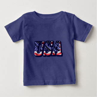 Letras de la bandera de los E.E.U.U., camiseta del