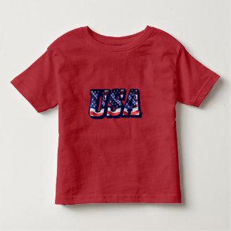 Camiseta De Bebé Letras de la bandera de los E.E.U.U., camiseta del