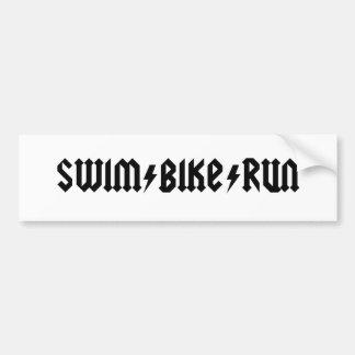 letras del acdc del swimbikerun pegatina para coche