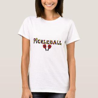 Letras del arte de Pickleball Camiseta