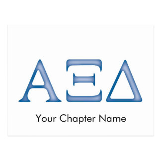 Letras del delta de la alfa XI Postal