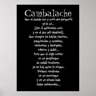 Letras del tango de Cambalache Póster