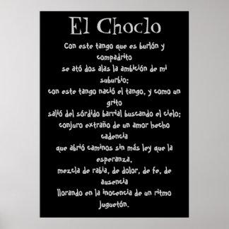 Letras del tango del EL Choclo Póster