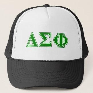 Letras del verde de la phi de la sigma del delta gorra de camionero