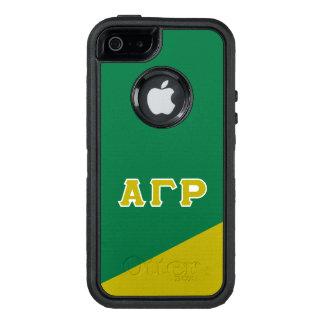 Letras gammas alfa del Griego de rho el   Funda OtterBox Defender Para iPhone 5