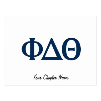 Letras griegas - azul postal