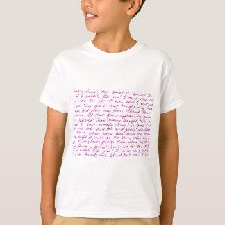Letras manuscritas de la tolerancia asombrosa camiseta