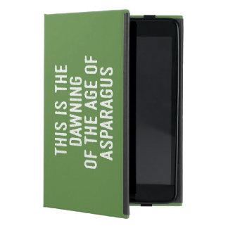 Letras misheard tipográficas divertidas de la funda para iPad mini