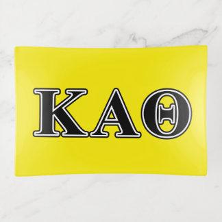 Letras negras de la theta alfa de Kappa