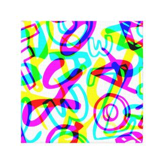 Letras + Números Lienzo