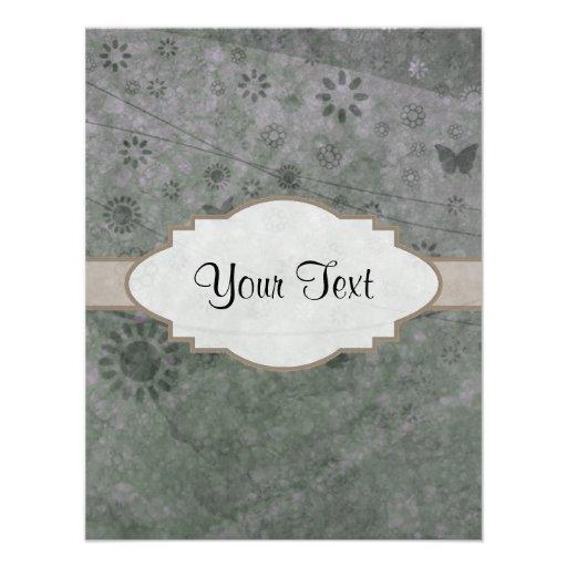 Letrero abstracto floral retro de la lavanda invitación