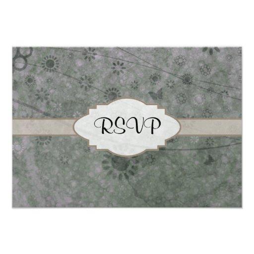 Letrero abstracto floral retro de la lavanda invitacion personalizada