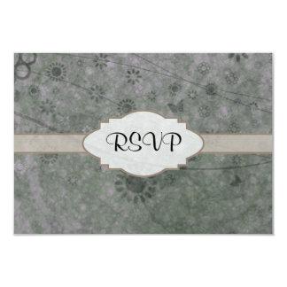 Letrero abstracto floral retro de la lavanda invitación 8,9 x 12,7 cm