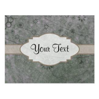 Letrero abstracto floral retro de la lavanda postal