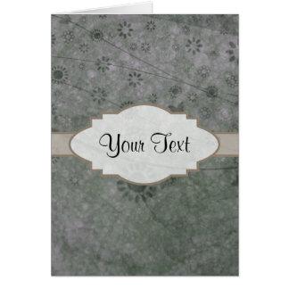Letrero abstracto floral retro de la lavanda tarjeta pequeña