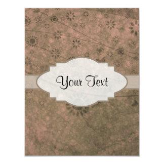 Letrero abstracto floral retro rosado de la sandía invitación 10,8 x 13,9 cm