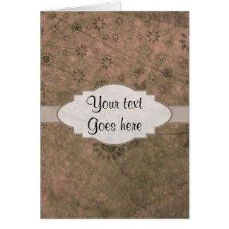 Letrero abstracto floral retro rosado de la sandía tarjeta de felicitación