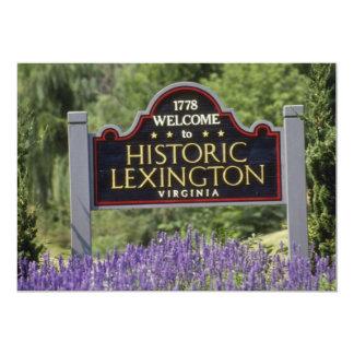 Letrero amarillo, flores históricas de Lexington Anuncios