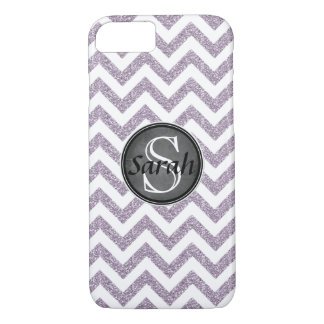 Letrero de Chevron - brillo púrpura en colores Funda Para iPhone 8/7