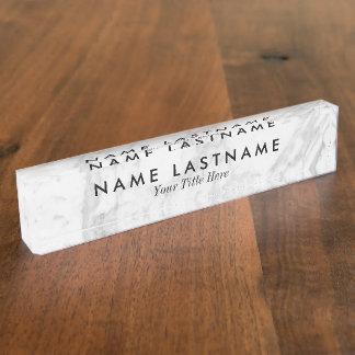 Letrero de encargo del escritorio del mármol liso