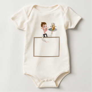 Letrero del camarero de Kebab del dibujo animado Body Para Bebé