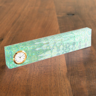 Letrero del escritorio de Cerdeña con el reloj