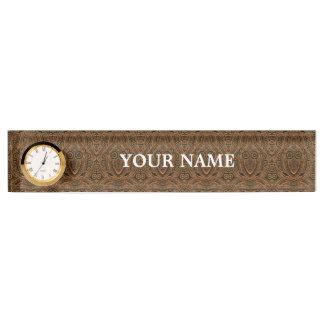 Letrero del escritorio de Steampunk con el reloj