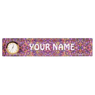 Letrero del escritorio    del modelo de mosaico