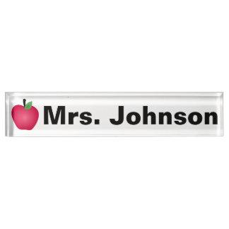 Letrero del escritorio para el profesor