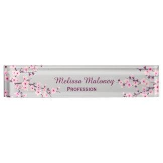 Letrero floral del escritorio de las flores de