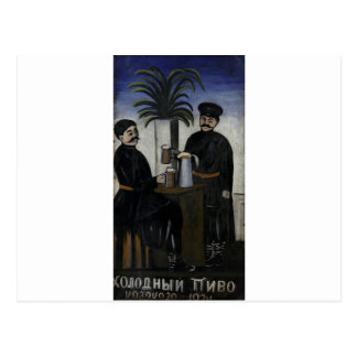 "Letrero ""frío, cerveza fría"" por Niko Pirosmani Postal"