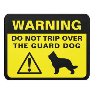 Letrero Para Puerta Advertencia chistosa del perro guardián de la
