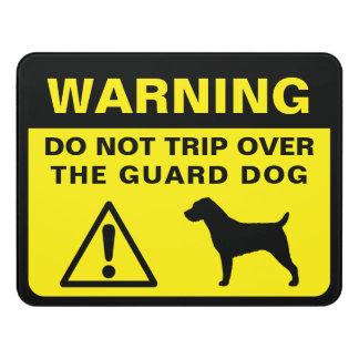 Letrero Para Puerta Advertencia divertida del perro guardián de Jack