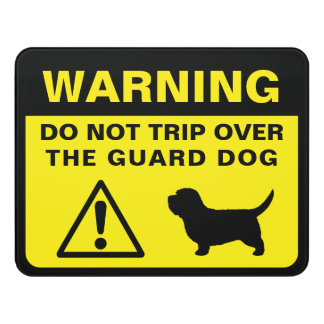 Letrero Para Puerta Advertencia divertida del perro guardián de la