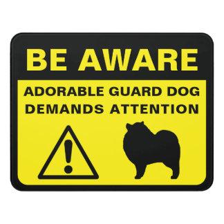 Letrero Para Puerta Advertencia divertida del perro guardián del
