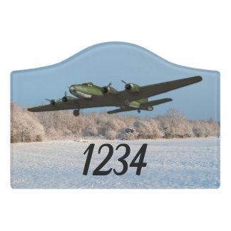 Letrero Para Puerta Aviones de la fortaleza del vuelo de la aviación
