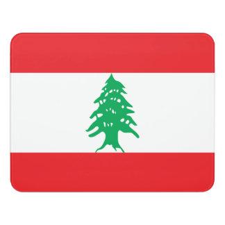 Letrero Para Puerta Bandera de Líbano