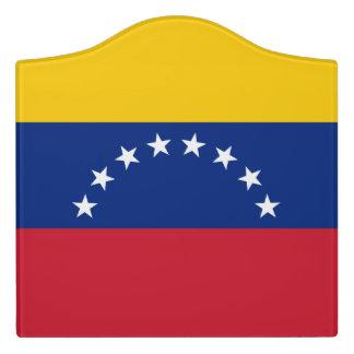 Letrero Para Puerta Bandera de Venezuela