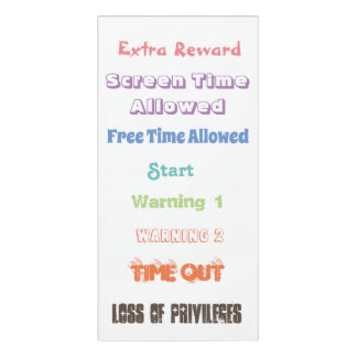 Letrero Para Puerta Carta del clip del comportamiento para los padres