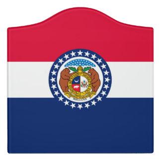 Letrero Para Puerta Gráfico dinámico de la bandera del estado de
