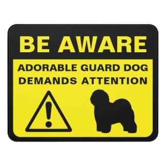 Letrero Para Puerta Muestra divertida del perro guardián del perro