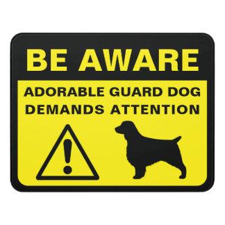 Letrero Para Puerta Muestra divertida del perro guardián del perro de