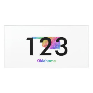 Letrero Para Puerta Oklahoma
