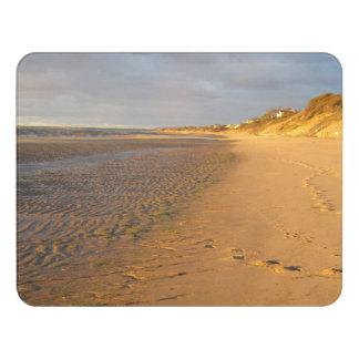 Letrero Para Puerta Puesta del sol de los planos de la arena de la