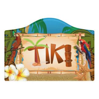 Letrero Para Puerta Recepción - diseño tropical de Tiki