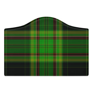 Letrero Para Puerta Tela escocesa de tartán