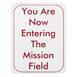 Letrero Para Puerta Usted ahora está incorporando la muestra del campo